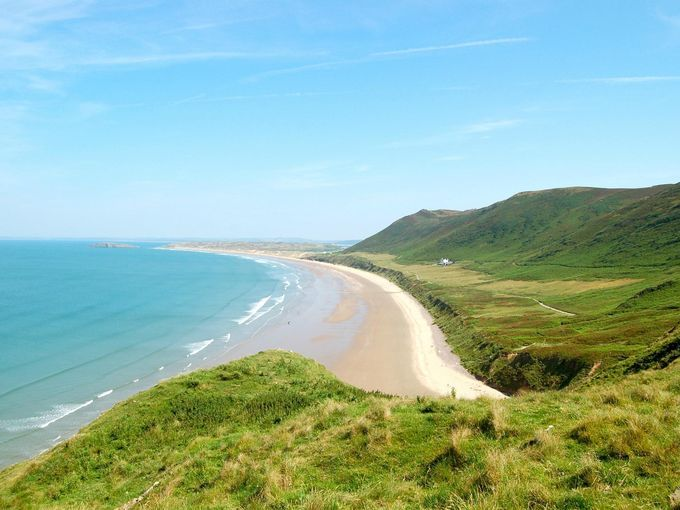 5 najlepszych plaz do wypoczynku w Wielkiej Brytanii Rhossili Beach (2)
